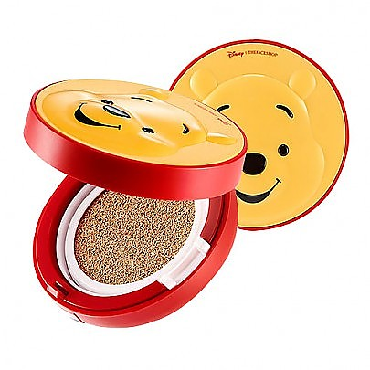 The face shop Disney CC Cooling Cushion Pooh 2016 New (V201 Apricot Beige)