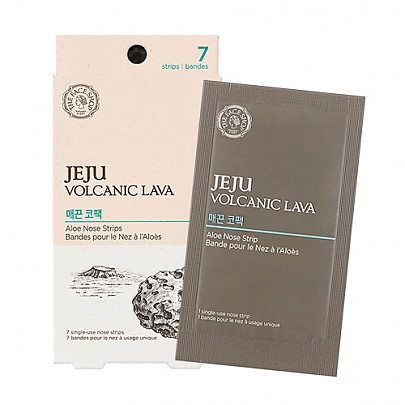 The face shop Jeju Volcanic Lava nose strip package (7Sheets)