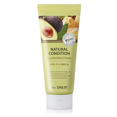 The saem Natural Condition Cleansing Scrub Foam #Nourishing 150ml