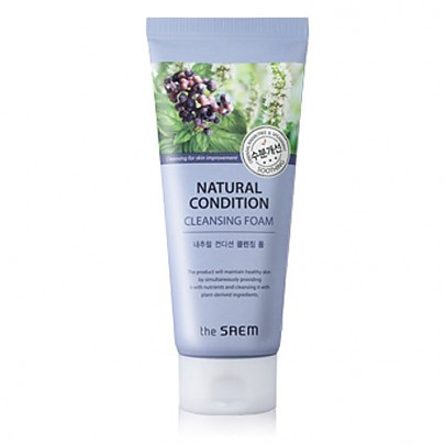 The saem Natural Condition Cleansing Scrub Foam #Soothing Cleansing 150ml