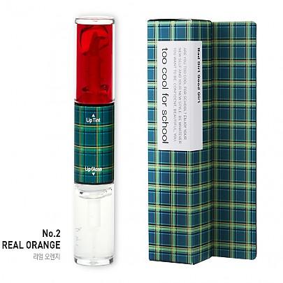 Too cool for school Check Bad Girl Good Girl Lip Tint&Lip Gloss 9.5g #2 Real Orange