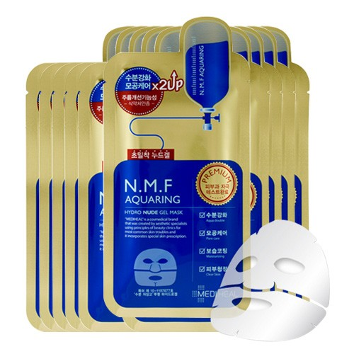 MEDIHEAL – N.M.F Aquaring Hydro Nude Gel Mask Pack 30ml (10pcs) Korean Beauty