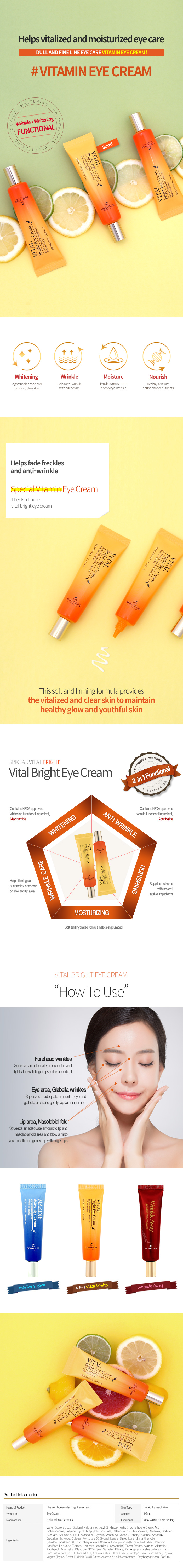 The Skin House Vital Bright Eye Cream 30mL
